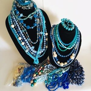 The blues beaded jewelry craft supplies lot